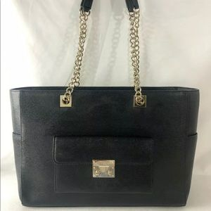 Henri Bendel black Leather purse